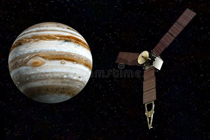 Júpiter y juno por satélite imagenes de archivo