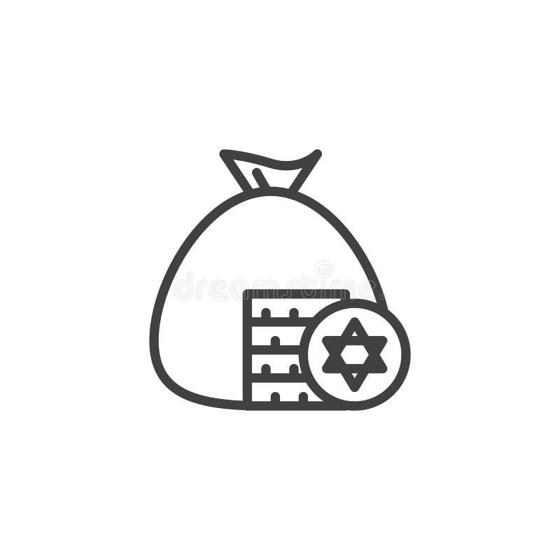 Jüdische Gelt-Entwurfsikone lizenzfreie abbildung