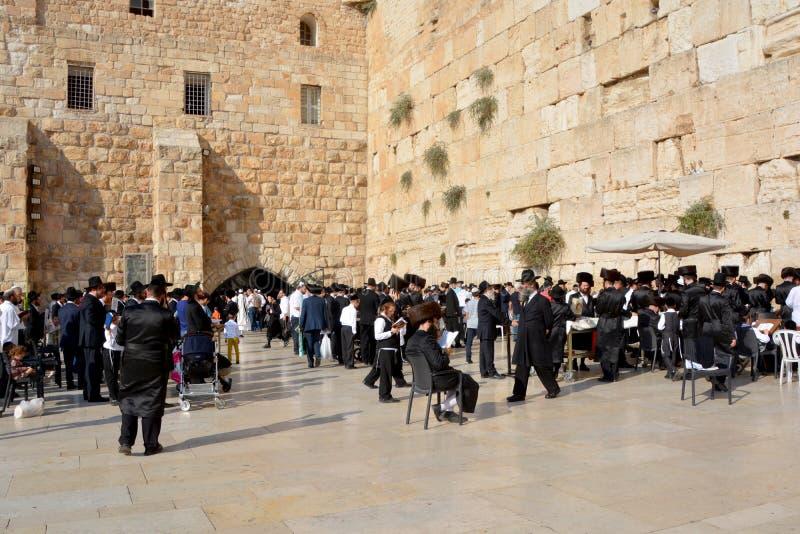 Jüdische hasidic beten stockbilder
