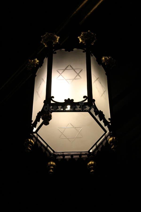 Jüdische Lampe stockbild