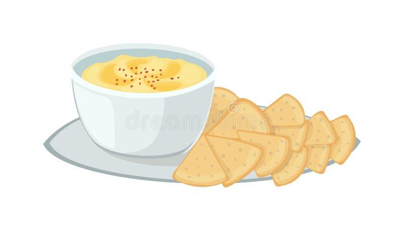 Jüdische Lebensmittelillustration lizenzfreie abbildung