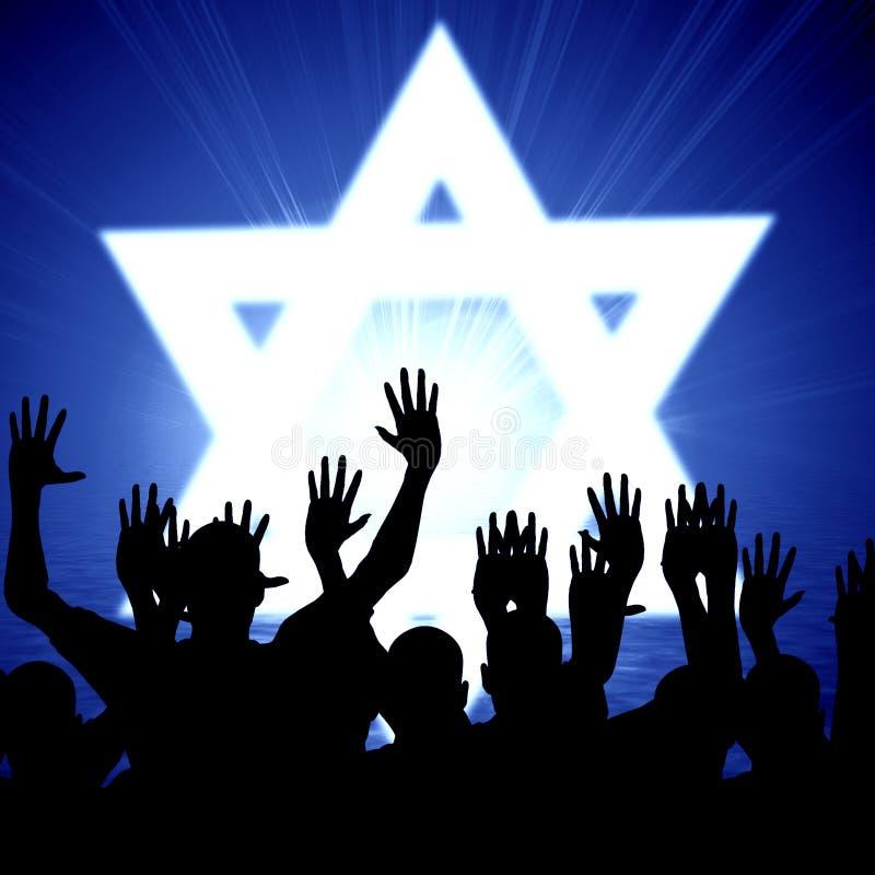 Jüdische Leute stock abbildung