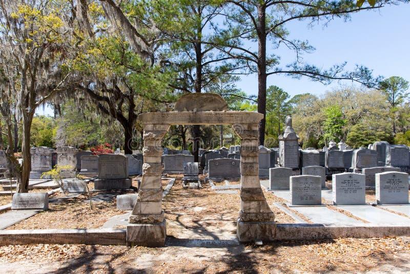 Jüdischer Abschnitt von historischem Bonaventure Cemetery lizenzfreies stockbild