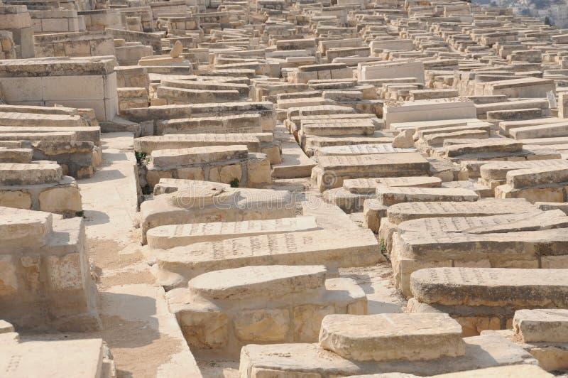Jüdischer Kirchhof in Israel stockbilder