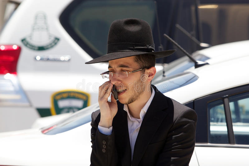 Jüdischer orthodoxer Mann stockbild