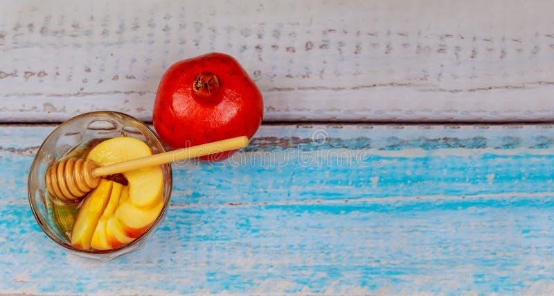 Jüdisches neues Jahr - Rosh Hashanah - Apple und Honig lizenzfreies stockbild