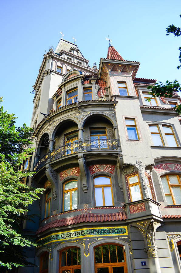 Jüdisches Viertel in Prag stockbilder