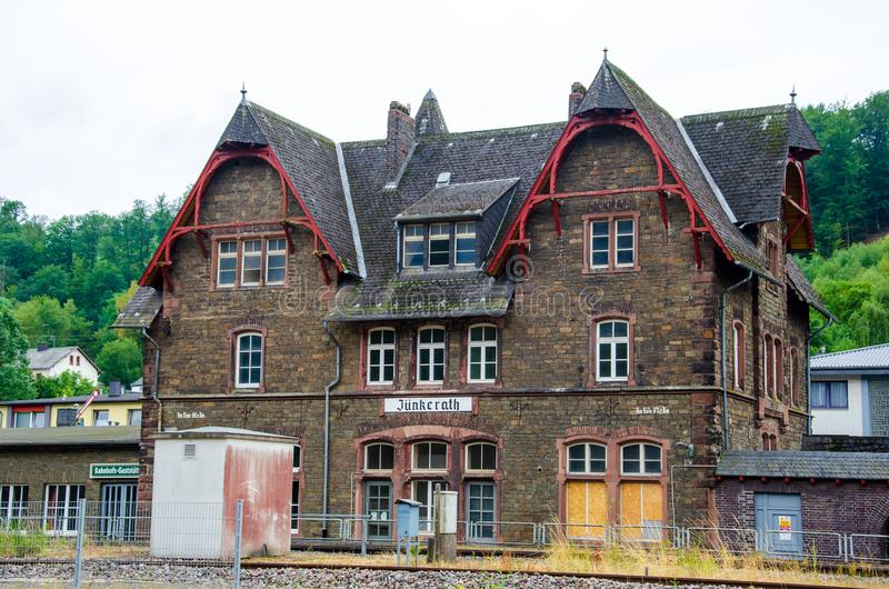Jünkerath, Germany - July 27, 2019: Jünkerath station is located on the Eifel Railway in Jünkerath in the German state of. Rhineland-Palatinate stock photography