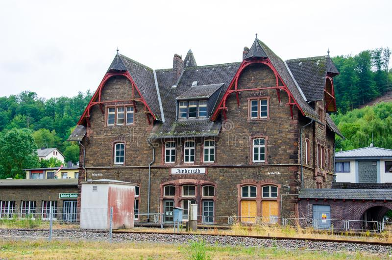 Jünkerath station is located on the Eifel Railway in Jünkerath in the German state of. Rhineland-Palatinate royalty free stock photography