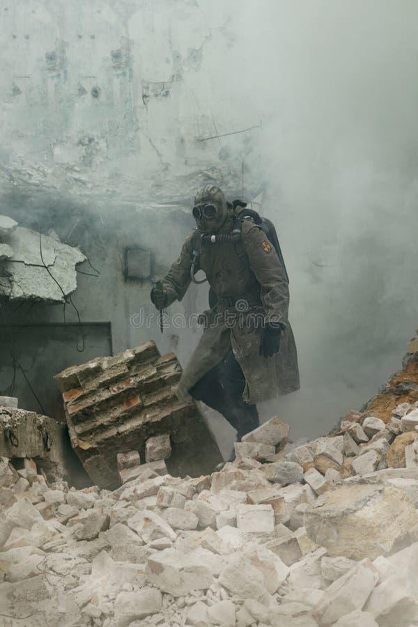 Jądrowy apocalypse ocalały obrazy royalty free