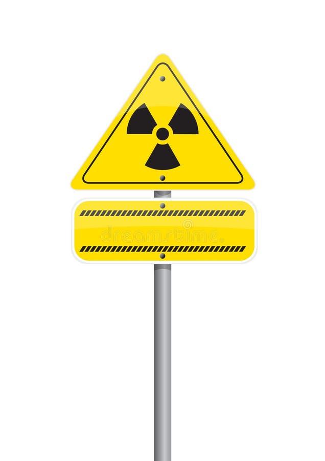 jądrowy ostrzeżenie royalty ilustracja