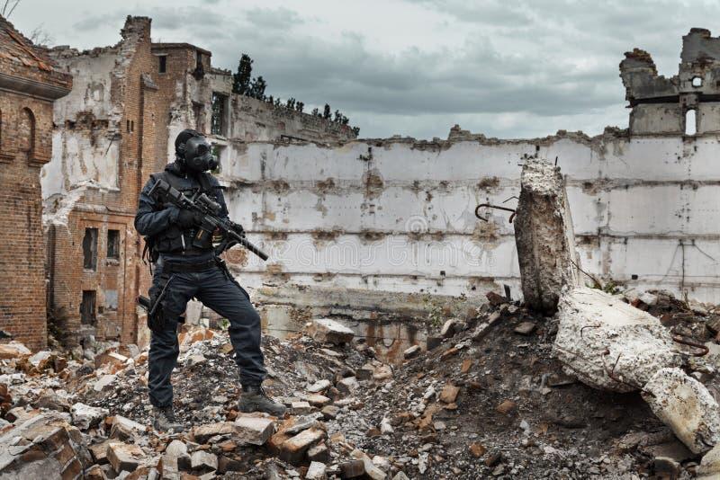 Jądrowy poczta apocalypse ocalały obrazy royalty free