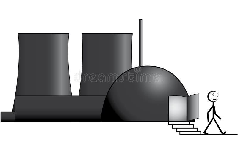 jądrowy przeprowadzać etapami ilustracja wektor