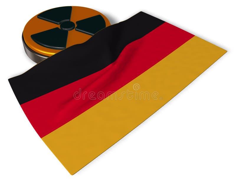 Jądrowy symbol i flaga Germany ilustracji