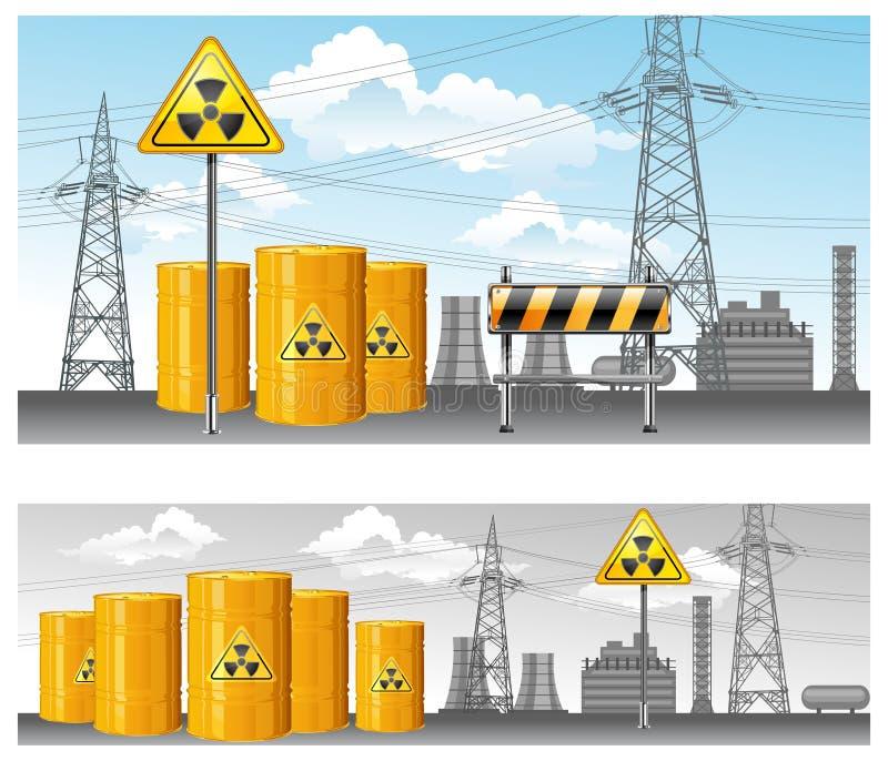 jądrowy terytorium ilustracja wektor