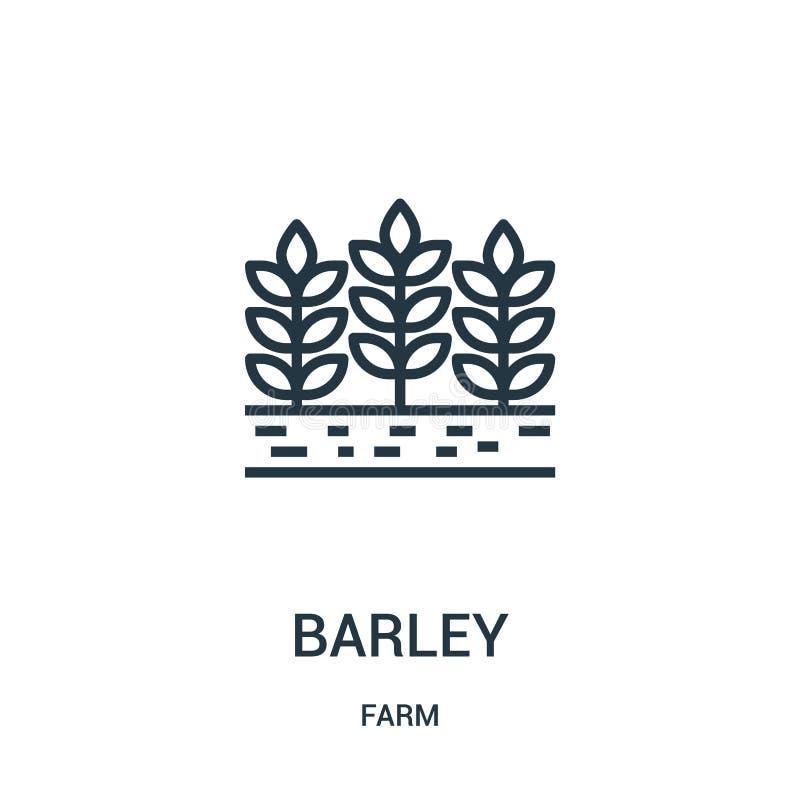 jęczmienny ikona wektor od rolnej kolekcji Cienka kreskowa jęczmienna kontur ikony wektoru ilustracja Liniowy symbol dla używa na ilustracji