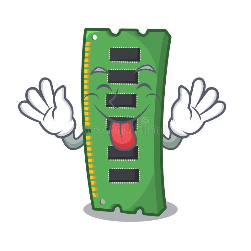 J?zor za RAM karcie pami?ci nad kresk?wka st?? ilustracji