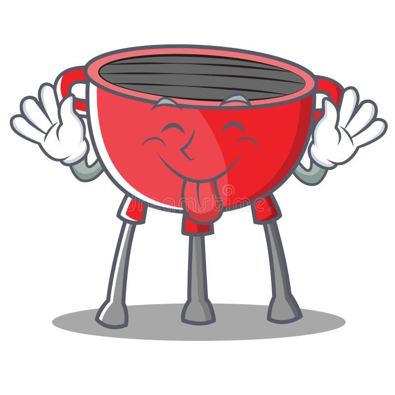 Jęzoru Out grilla grilla postać z kreskówki ilustracji