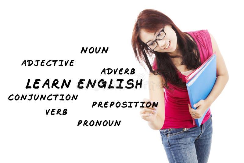 Języków angielskich materiały 1 obrazy stock