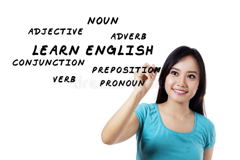 Języków angielskich materiały obrazy royalty free