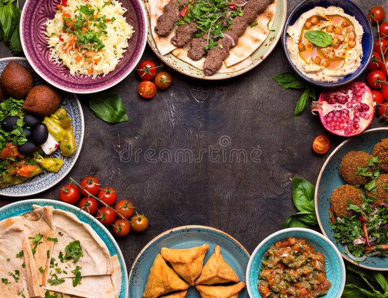 Język arabski rozdaje tło zdjęcia stock