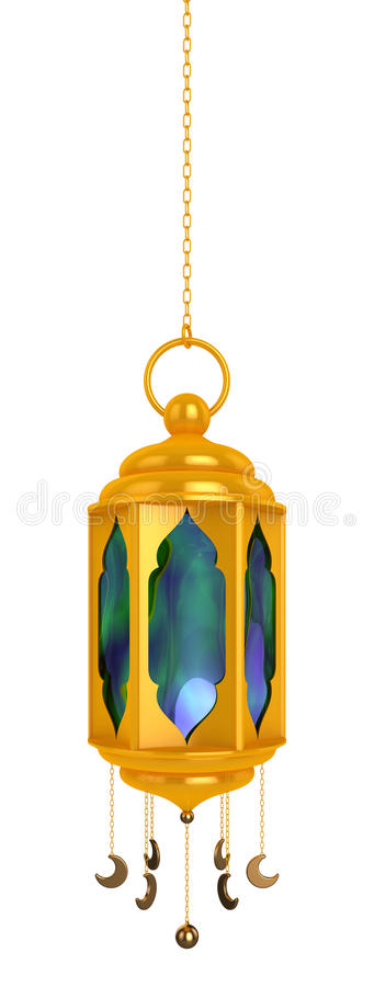 Języka arabskiego Ramadan lampion ilustracja wektor