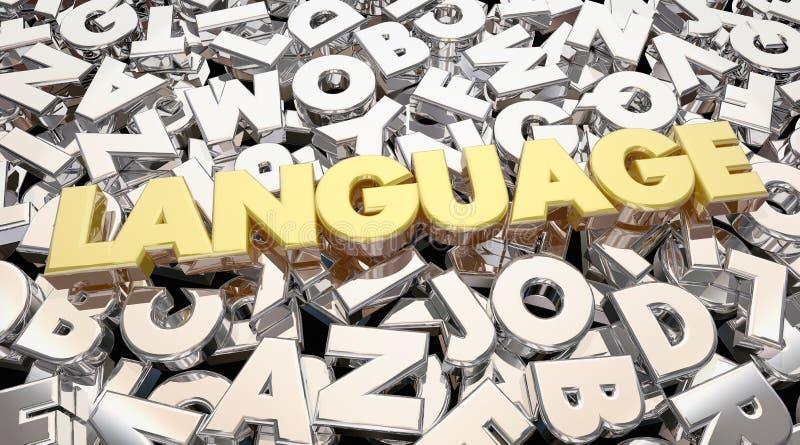 Językowa słowo listów komunikacja Dzieli pomysły royalty ilustracja