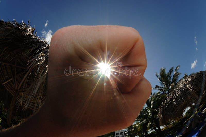 J'ai attrapé le soleil images libres de droits