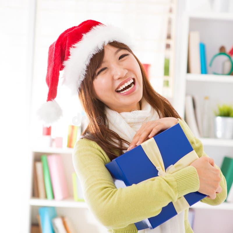 J'ai eu mon cadeau de Noël images stock