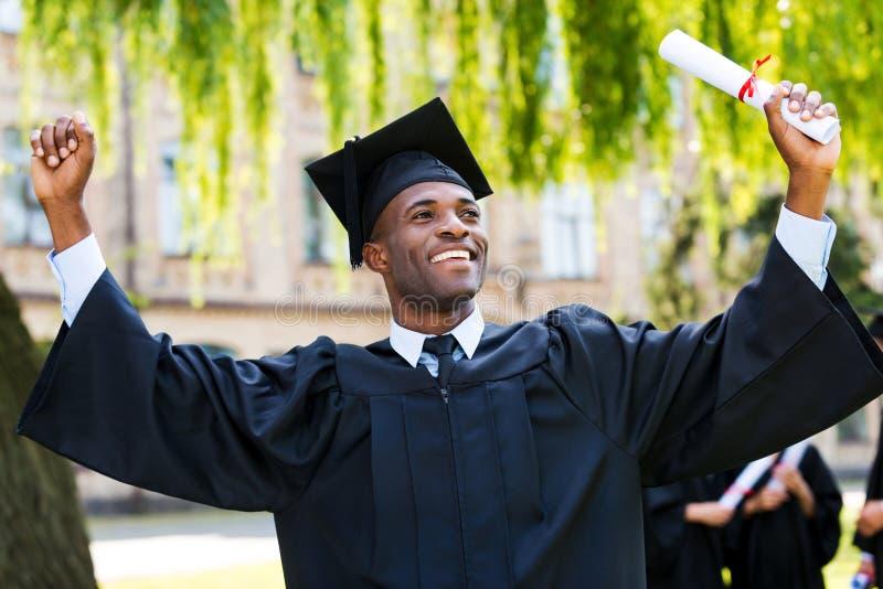 J'ai finalement reçu un diplôme ! photo stock