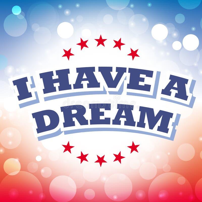 J'ai une carte de voeux rêveuse illustration libre de droits