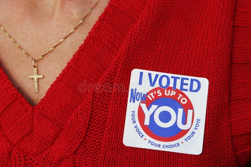 J'ai voté 1 photos stock