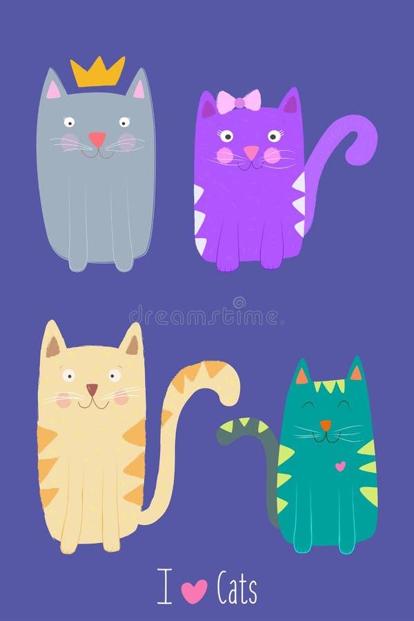 J'aime des chats photos stock