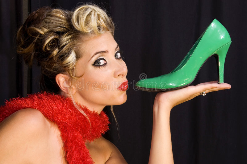 J'aime des chaussures ! photo stock