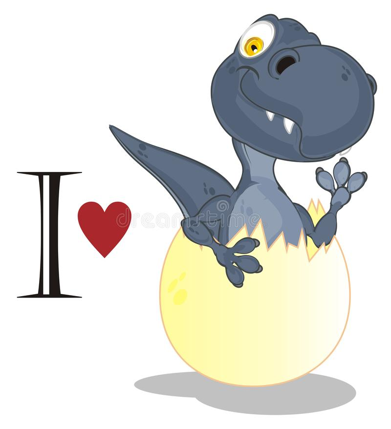 J'aime Dino illustration stock