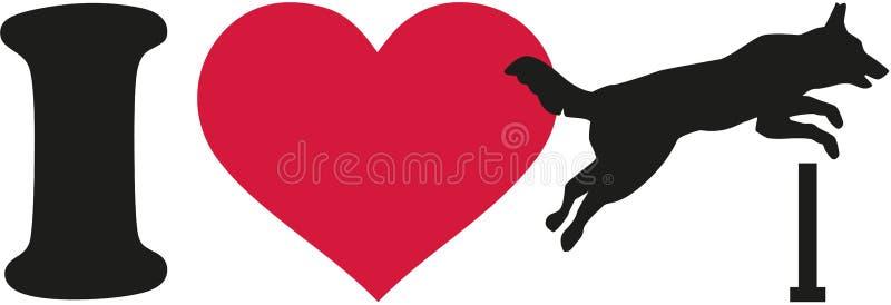 J'aime l'agilité de chien illustration libre de droits