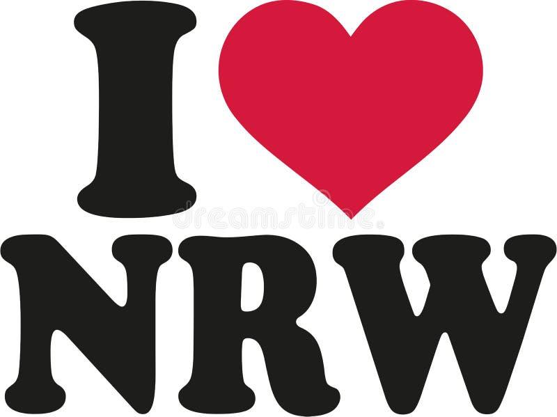 J'aime l'allemand de NRW illustration libre de droits
