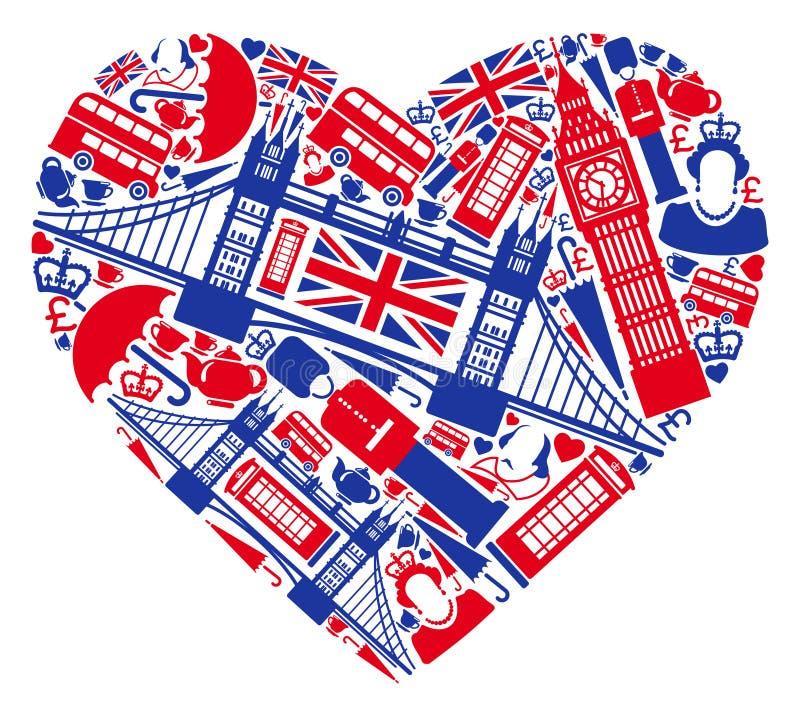 J'aime l'Angleterre ! illustration de vecteur