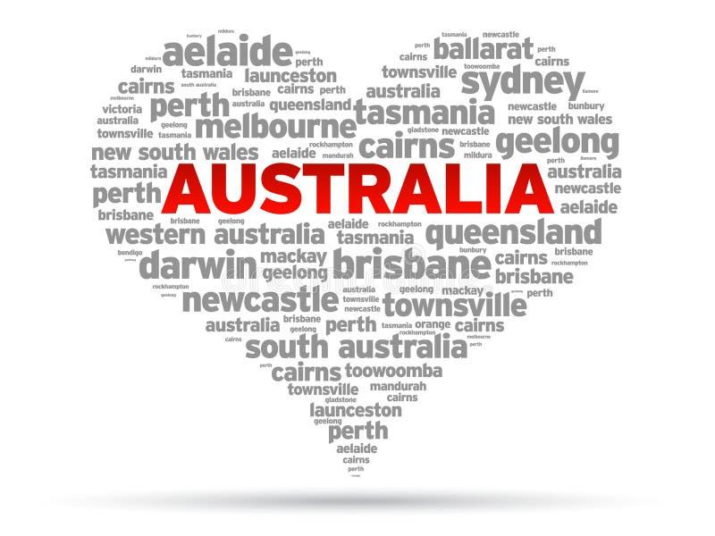 J'aime l'Australie illustration de vecteur