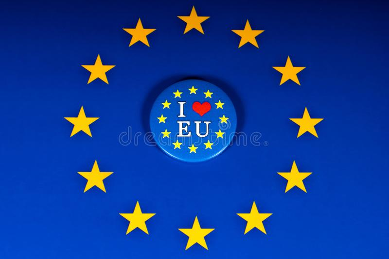 J'aime l'UE photo libre de droits