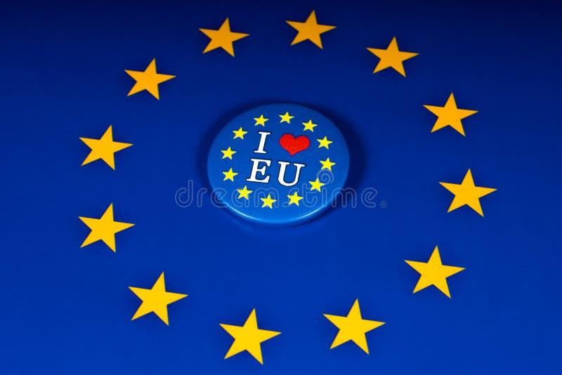 J'aime l'UE photos libres de droits