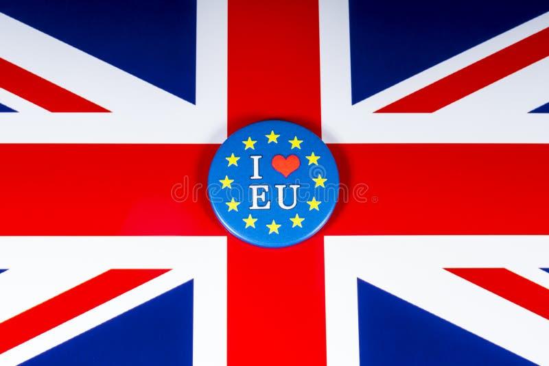 J'aime l'UE photos stock
