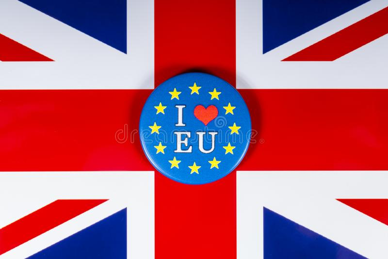 J'aime l'UE images libres de droits