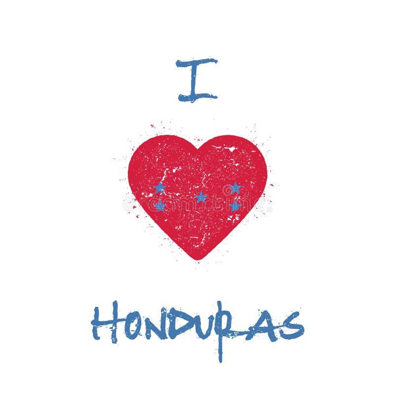 J'aime la conception de T-shirt du Honduras illustration de vecteur