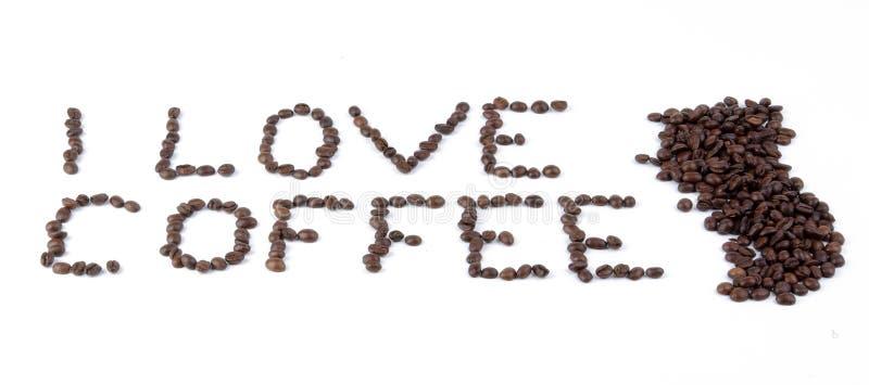 J'aime le café image libre de droits
