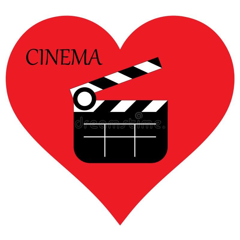 J'aime le cinéma J'aime des films illustration de vecteur