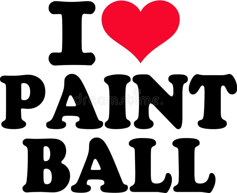 J'aime le Paintball illustration libre de droits