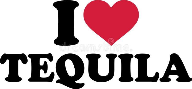 J'aime le slogan de tequila illustration libre de droits