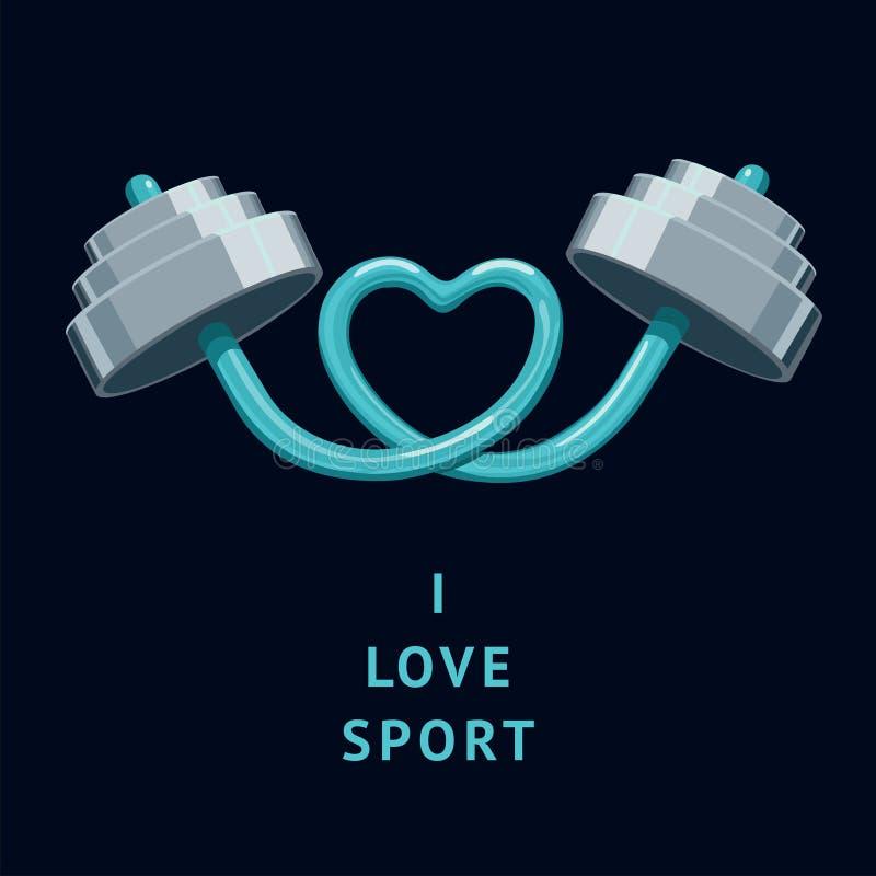 J'aime le sport illustration libre de droits