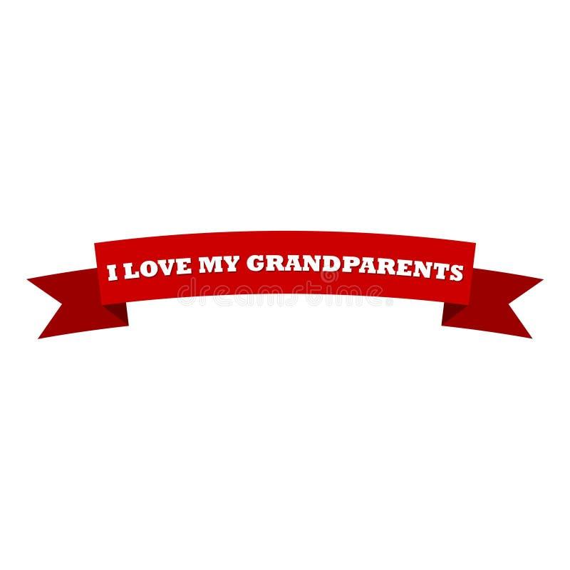J'aime ma conception de célébration de grands-parents illustration stock
